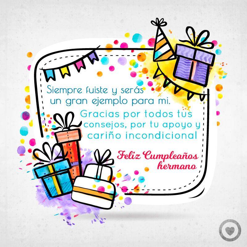 bonita tarjeta de cumpleaños para mi hermano | HBD | Pinterest ...