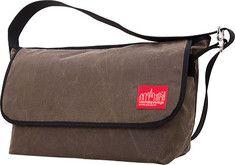 d95f3ead23 Manhattan Portage Waxed Vintage Messenger Bag (Large) Nylon Lining - Dark  Brown