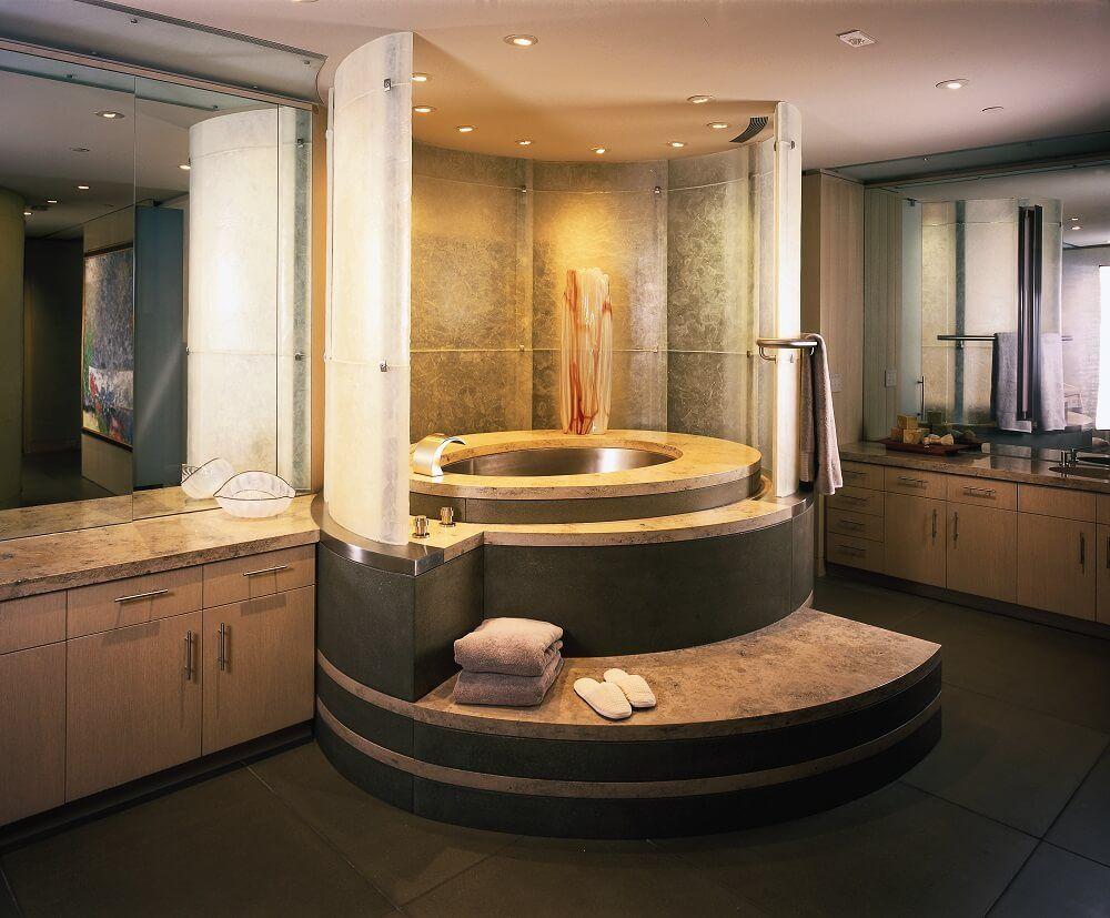 Stainless Steel Spherical Japanese Soaking Bath 40u201d X 60u201d X 32u201d