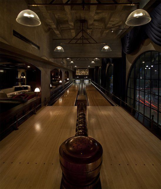 Roosevelt Lodge Dining Room: Bowling Alley @ Hollywood Roosevelt Hotel In 2019