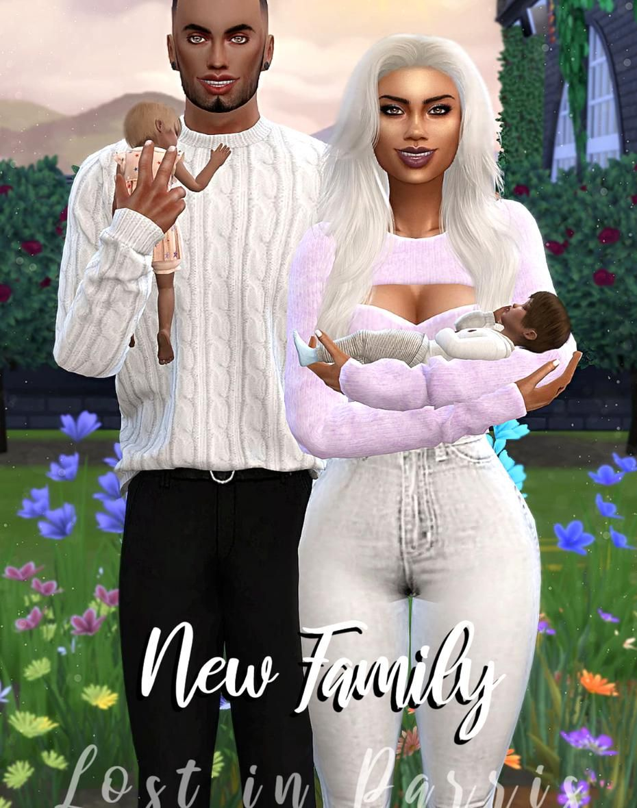 sims 4 cc custom content family pose pack New Family by