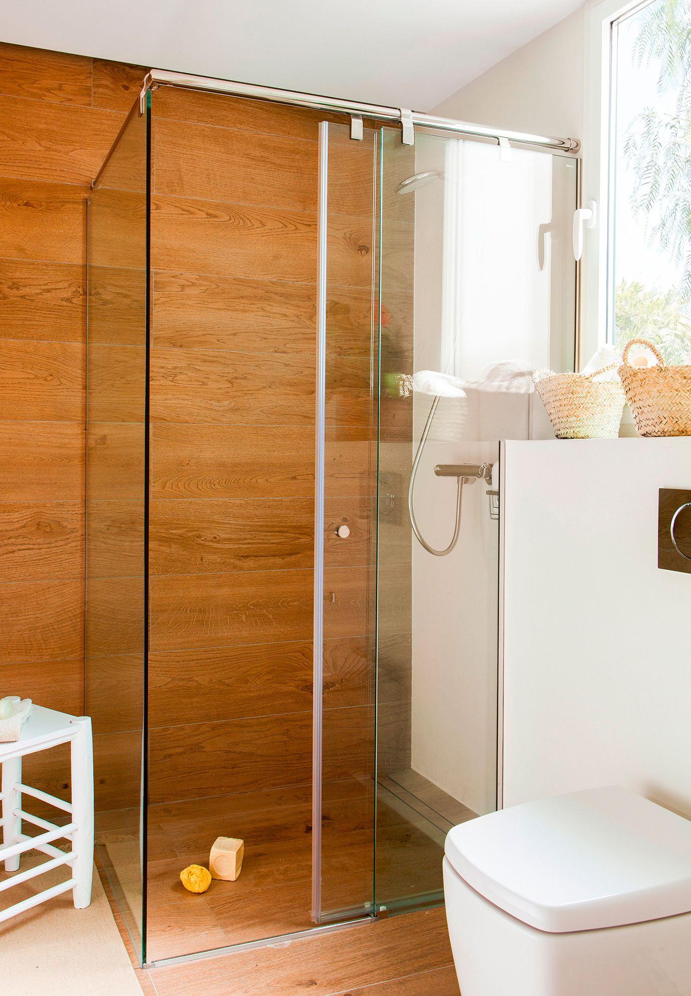 Y seguir creciendo ducha y ba era ba os madera ba os for Banos modernos con banera