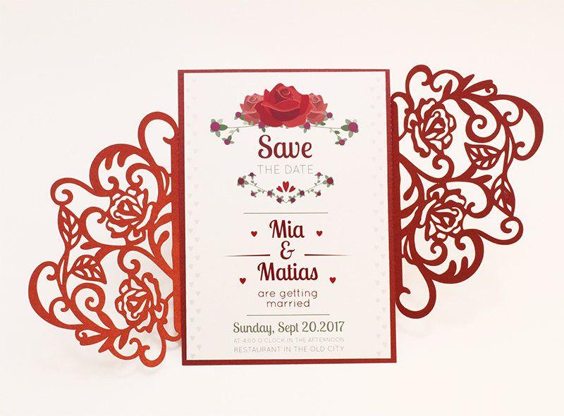 Gate Fold Invitation Template Svg Dxf Ai Crd Eps Laser Etsy Invitations Invitation Template Free Printable Wedding Invitations