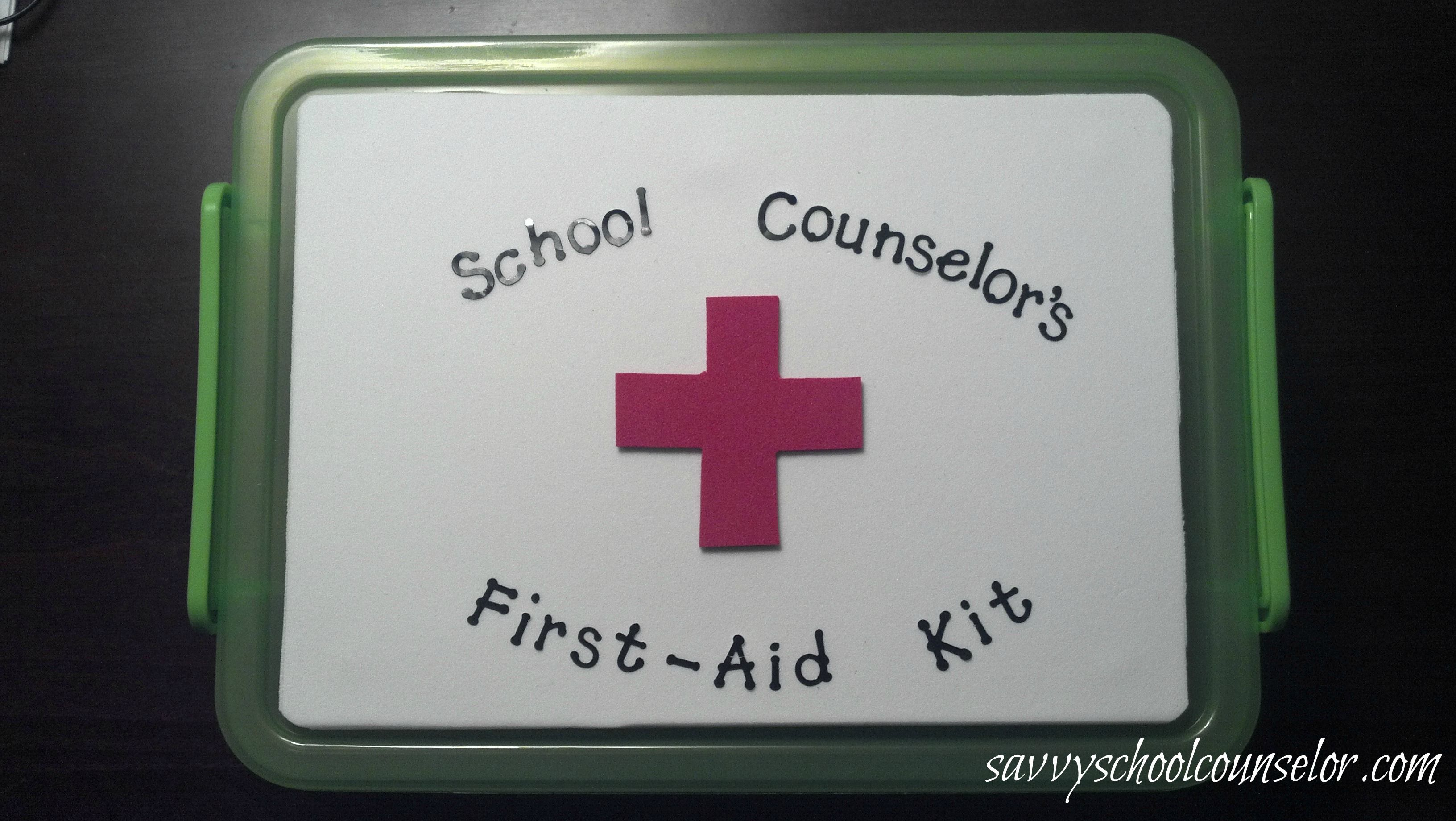 School Counselor S First Aid Kit With Images