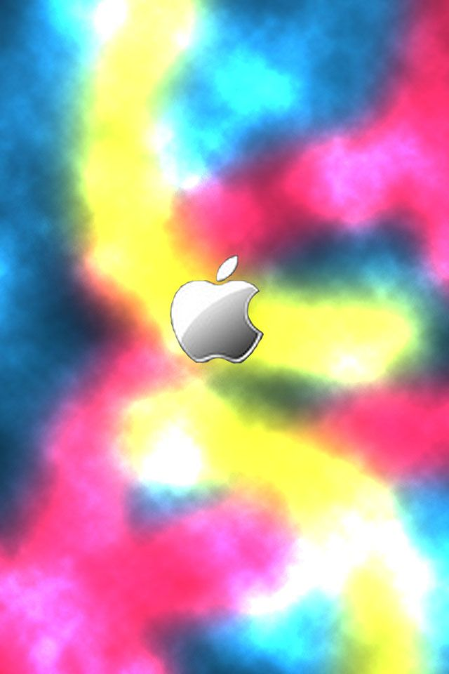 Wallpaper for iPhone Neon Apple (With images) | Abstract ...