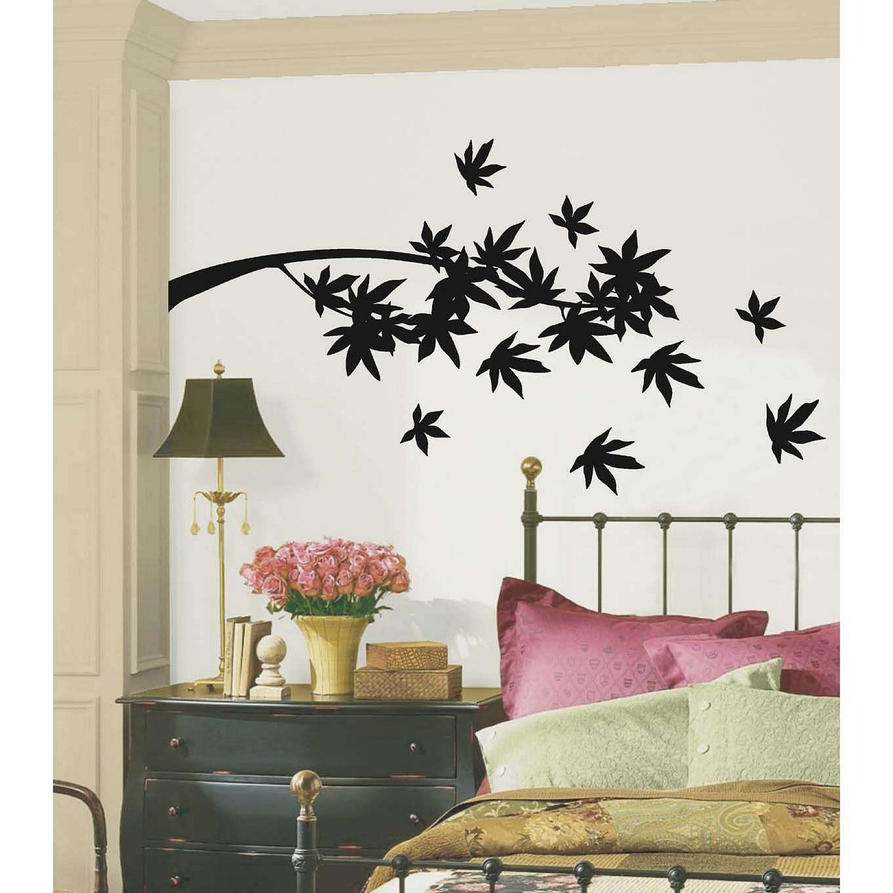 Exciting Bedroom Wall Decor Cool Design With Simple Black Tree ...