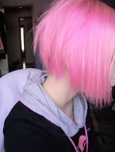 Light Neon Pink Bright Hotpink Pinkhair Short Straight Bob Cute Girly Girl Hair Color Pink Cotton Candy Hair Candy Hair