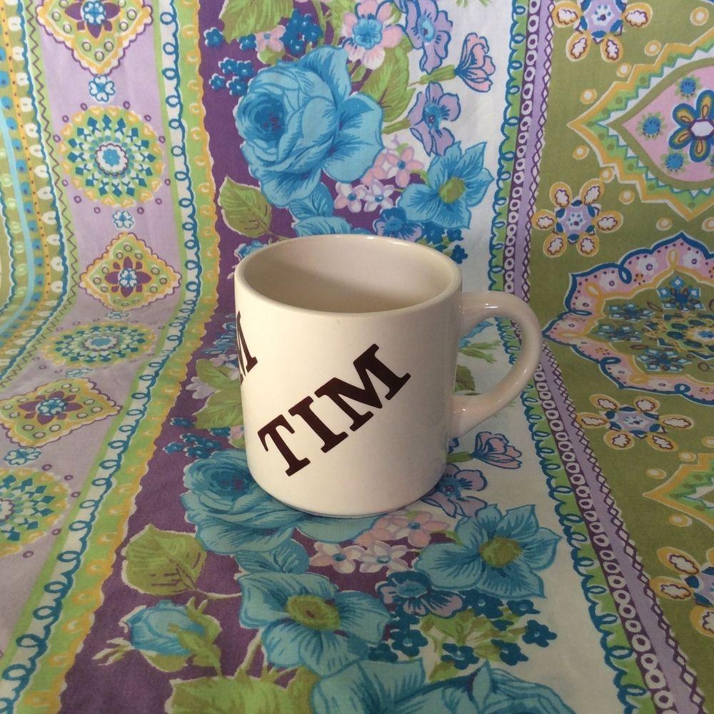 Vintage 1977 Houze - Tim Personalized 12oz Coffee Mug Cup. Tim Coffee Mug.