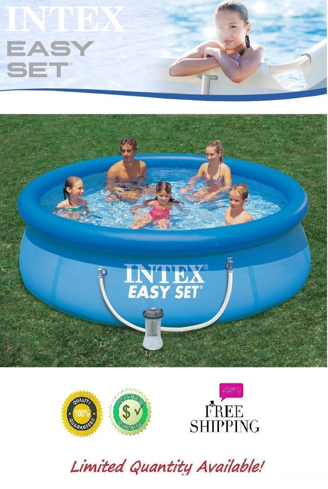 Swimming Pool Round Ground Intex 8ft X 30in Easy Set Pool Set with ...