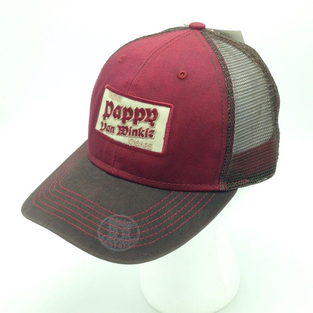 1da39c06c6a Pappy Van Winkle Cigars Mesh Trucker Hat Cap Snapback Brown Maroon NWT