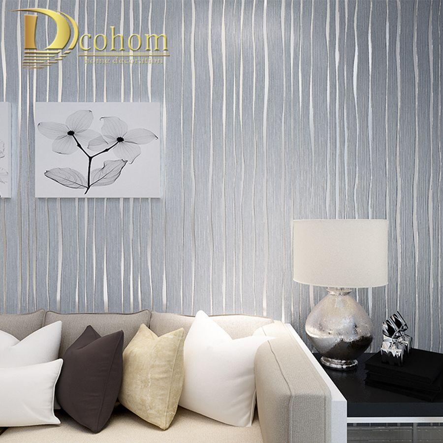 Cheap sencillo de oro beige rosa gris rayas moderno papel - Papel pared moderno ...