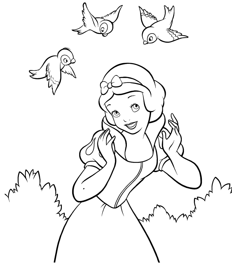 Disney Snow White Coloring Page | Children and Princess Party ...