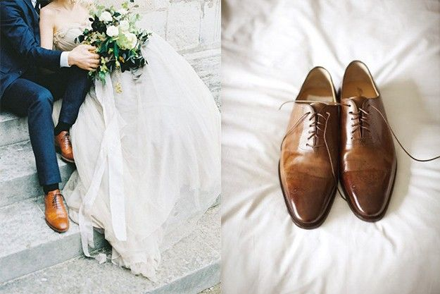 chaussures pour le mari de couleur marron et costume bleu style pinterest costume mariage. Black Bedroom Furniture Sets. Home Design Ideas