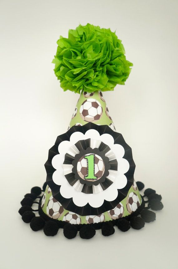 1fa1ded83ab6ce Soccer Birthday Party Hat, Boys Birthday Party Hat, Soccer 1st Birthday on  Etsy, $17.50