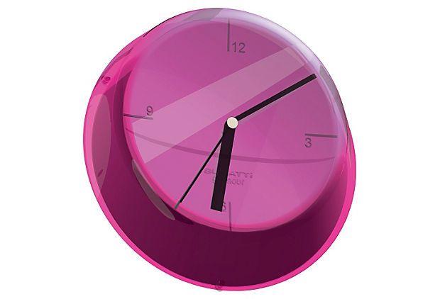 Glamour Clock Lilac On Onekingslane Com Wall Clock Design Wall Clock Clock
