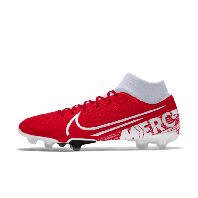 Nike Mercurial Superfly 7 Academy Fg Mg By You Custom Multi Ground Football Boot In 2020 Cool Football Boots Nike Custom Football Boots
