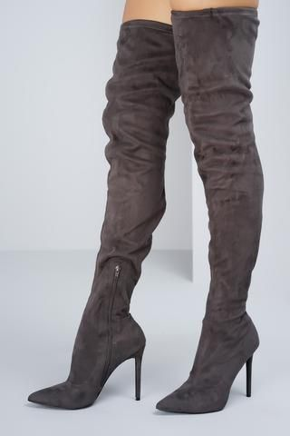 7c8eec70f57 Giselle Over the Knee Boots - Grey