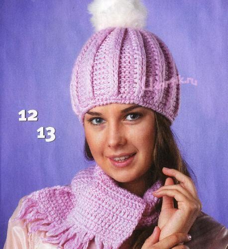 шапки вязанные крючком фото