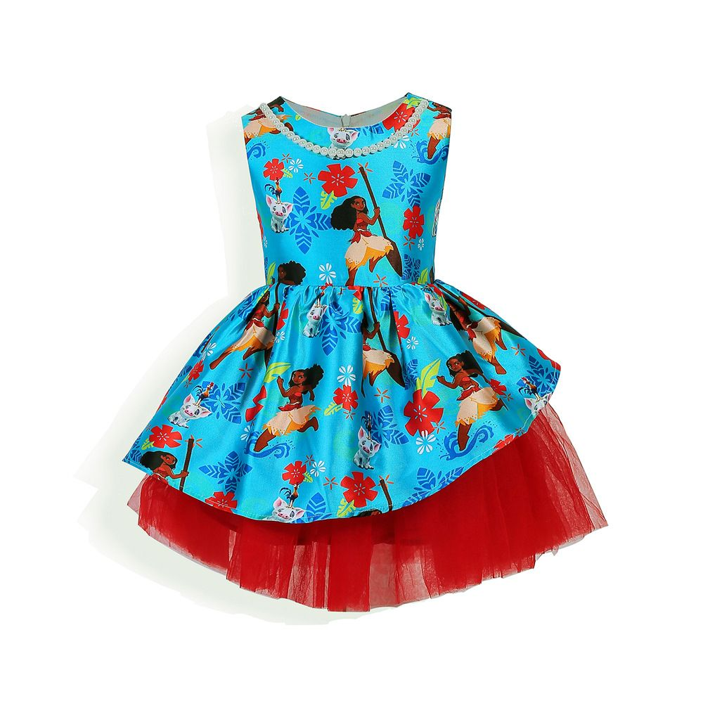 Click to Buy << European and American children \'s dress moana ...