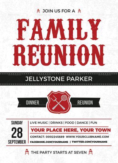 modern family reunion invitation card template invitation card