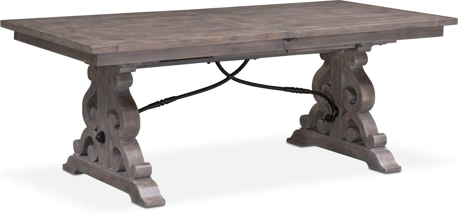 Intricate Detailing. Rustic And Grand, The Charthouse Rectangular Dining  Table Magnificently Sets A Welcoming Tone In Your Space With Its Weathered  Gray ...