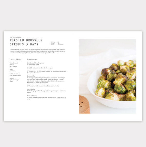 Minimalist InDesign Cookbook Template Digital File To Create Your Own Recipe Book Layouts For Titles Stories Ingredients Directions And Pictures