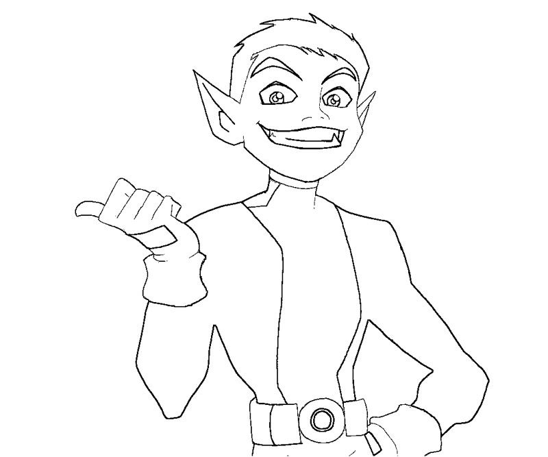 Teen Titans Beast Boy Coloring Pages Coloring 4 Kids DC Super