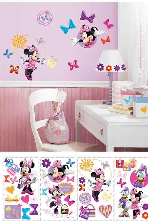 Charmant Disney Minnie Mouse Bow Tique Wall Stickers   Wall Sticker Outlet