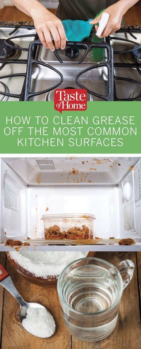 How to Clean Grease off the Most Common Kitchen Surfaces ...