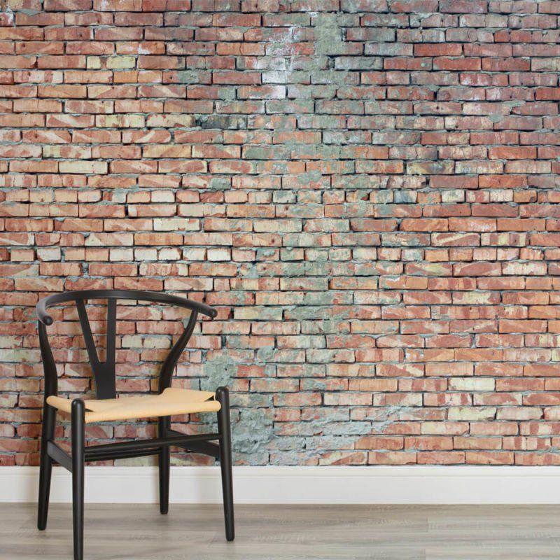 Clean white brick wallpaper wall mural muralswallpaper co uk