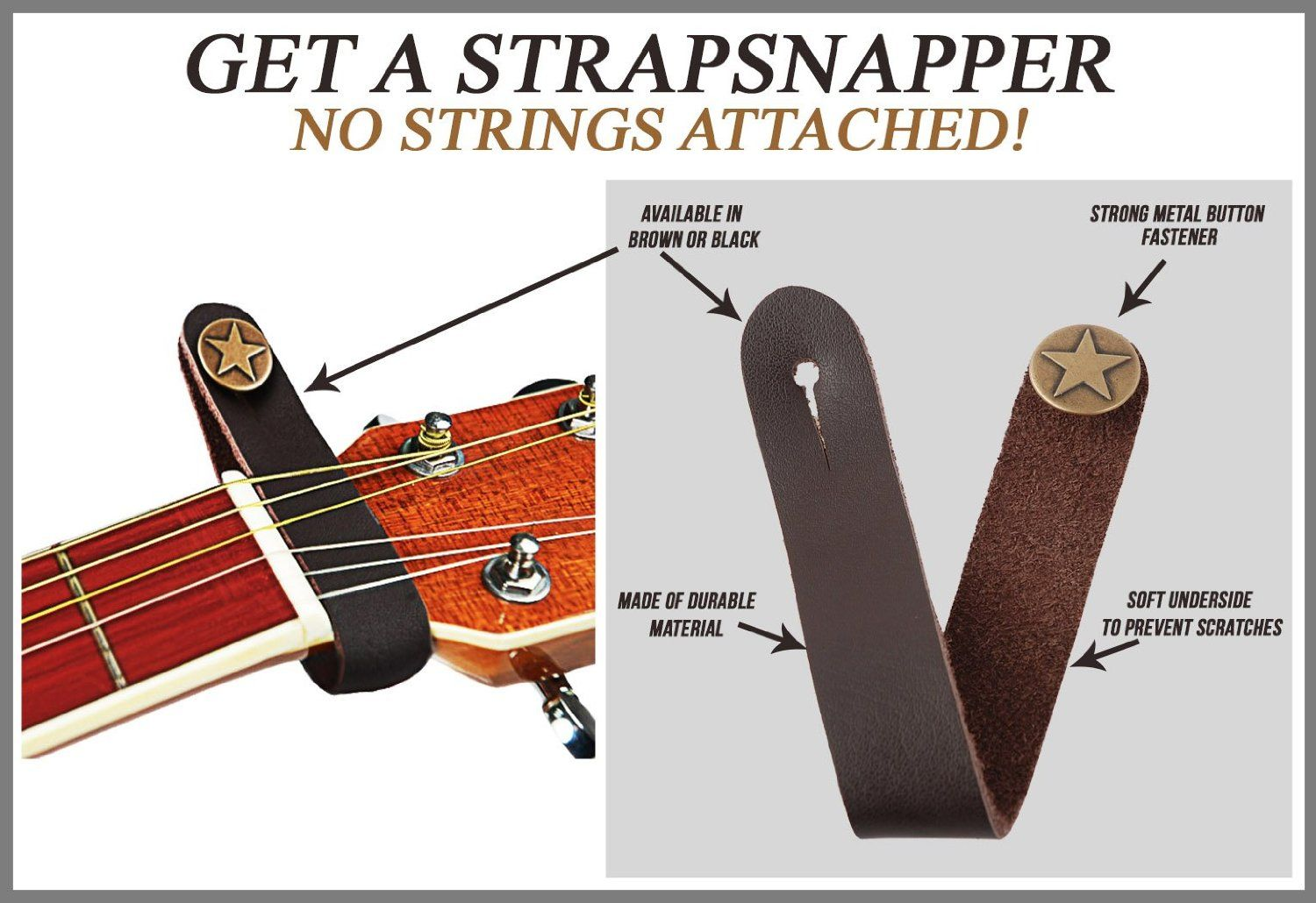 how to put on a bass guitar strap