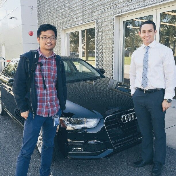 Audi Brand Specialist Brad With New Audi Tampa Client Xi And His - Audi tampa