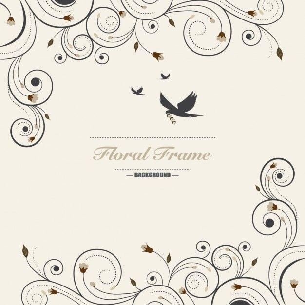 Fondo floral ornamental vector gratis marcos y for Tipos de arboles decorativos