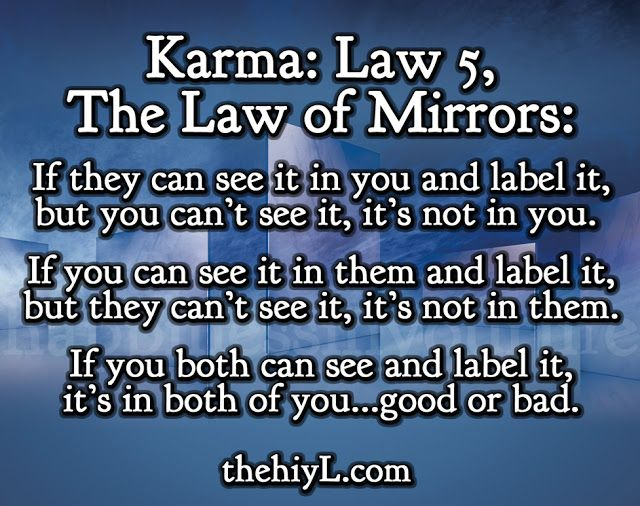 The Hiylife Www Thehiyl Com Karma Law 5 The Law Of Mirrors Law Of Karma Karma Quotes Mirror Quotes