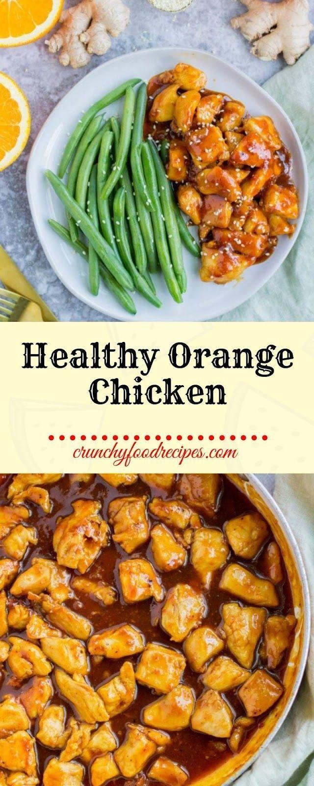 Healthy Orange Chicken images