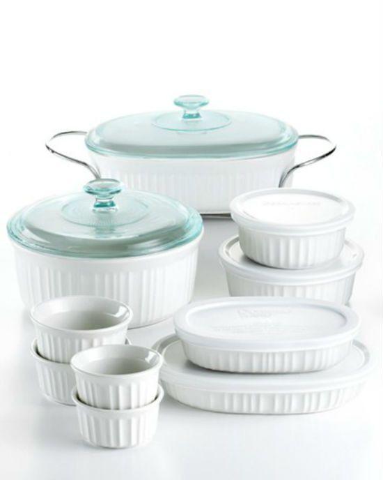 Corningware French White 17 Piece Bakeware Set Bakeware Baking