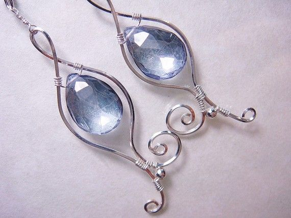 Violet Blue Mystic Quartz Sterling Silver by PassionateJewelry, $38.00