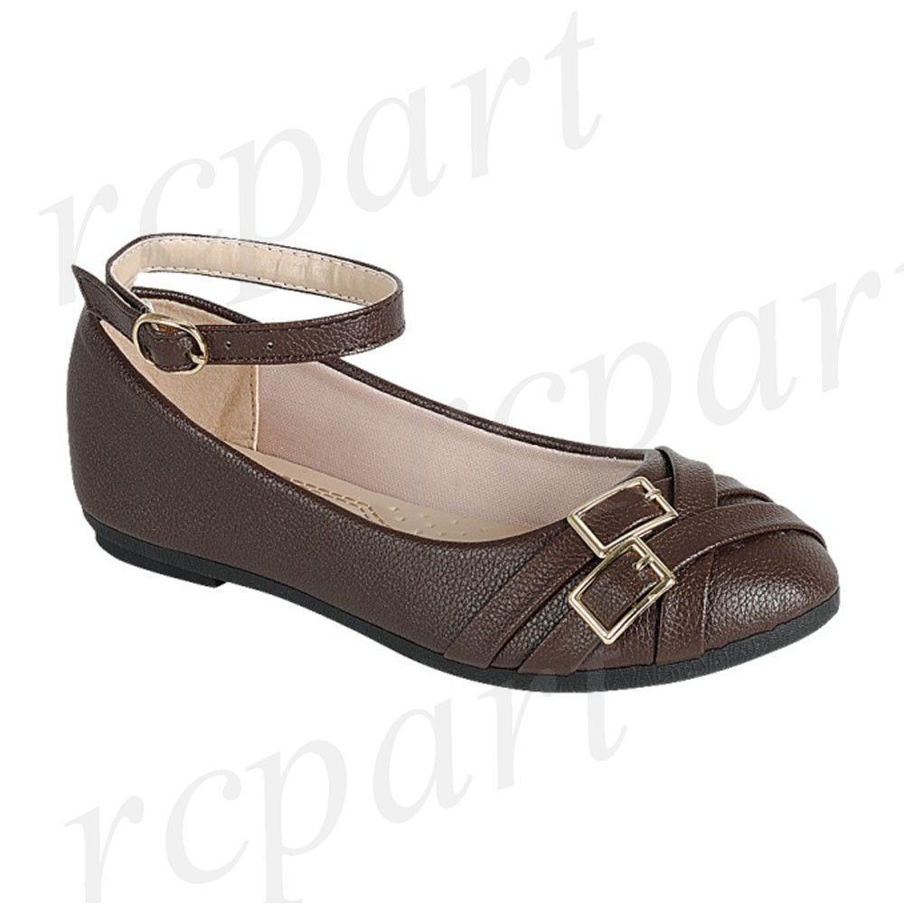 758b1c5e145e New girl s kids formal dress wedding shoes Brown buckle closure wedding   fashion  clothing  shoes  accessories  kidsclothingshoesaccs  girlsshoes  ad  (ebay ...