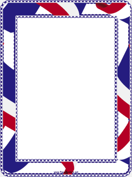 Red White And Blue Border Printable Border July Background Fourth Of July