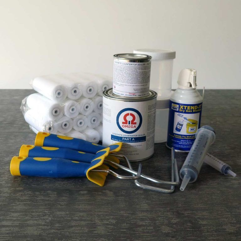 Omega Concrete Countertop Sealer Full Kit With Images Concrete
