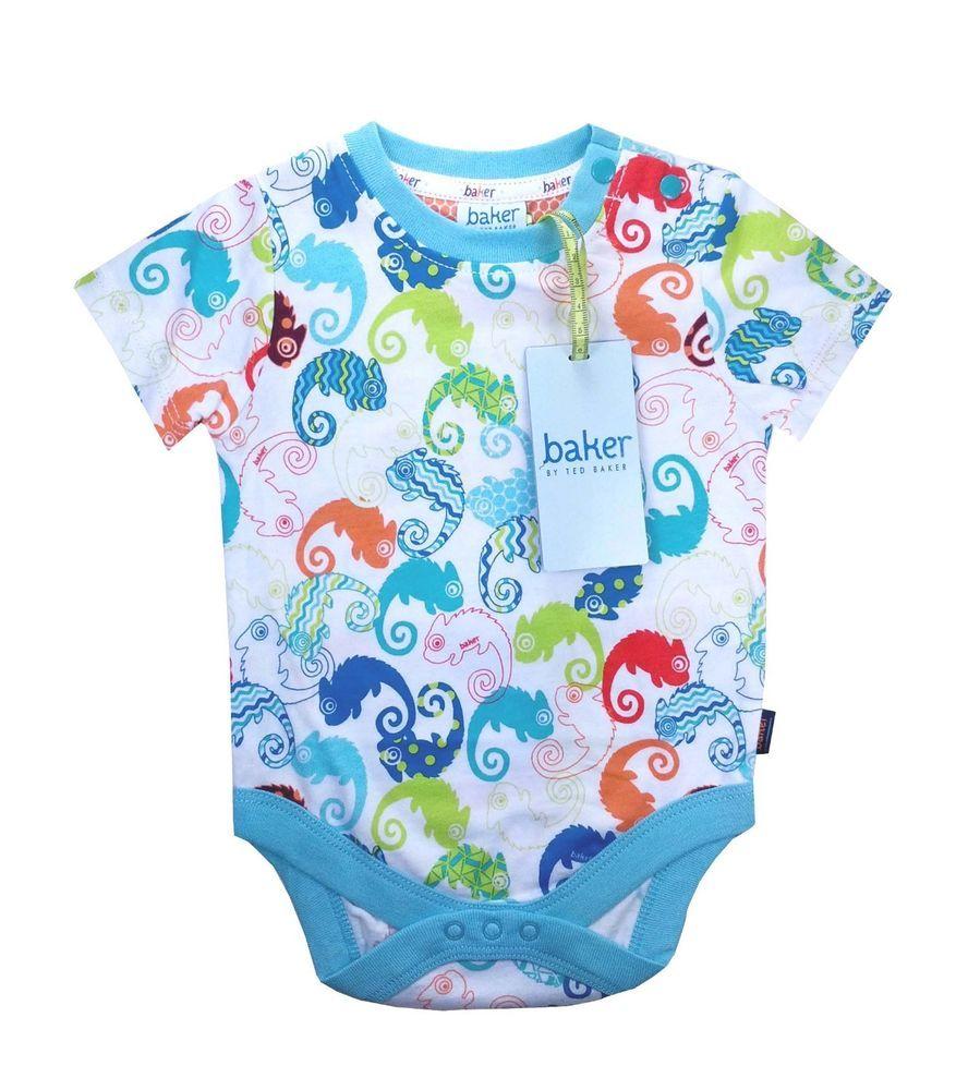 c0f315e2c5f191 Ted Baker Baby Boys Romper Bodysuit Vest Colourful Designer Newborn Gift  0-3 M
