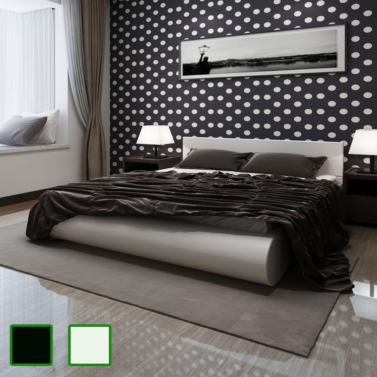 Details zu Polsterbett Lattenrahmen Kunstlederbett Bett Bettrahmen ...