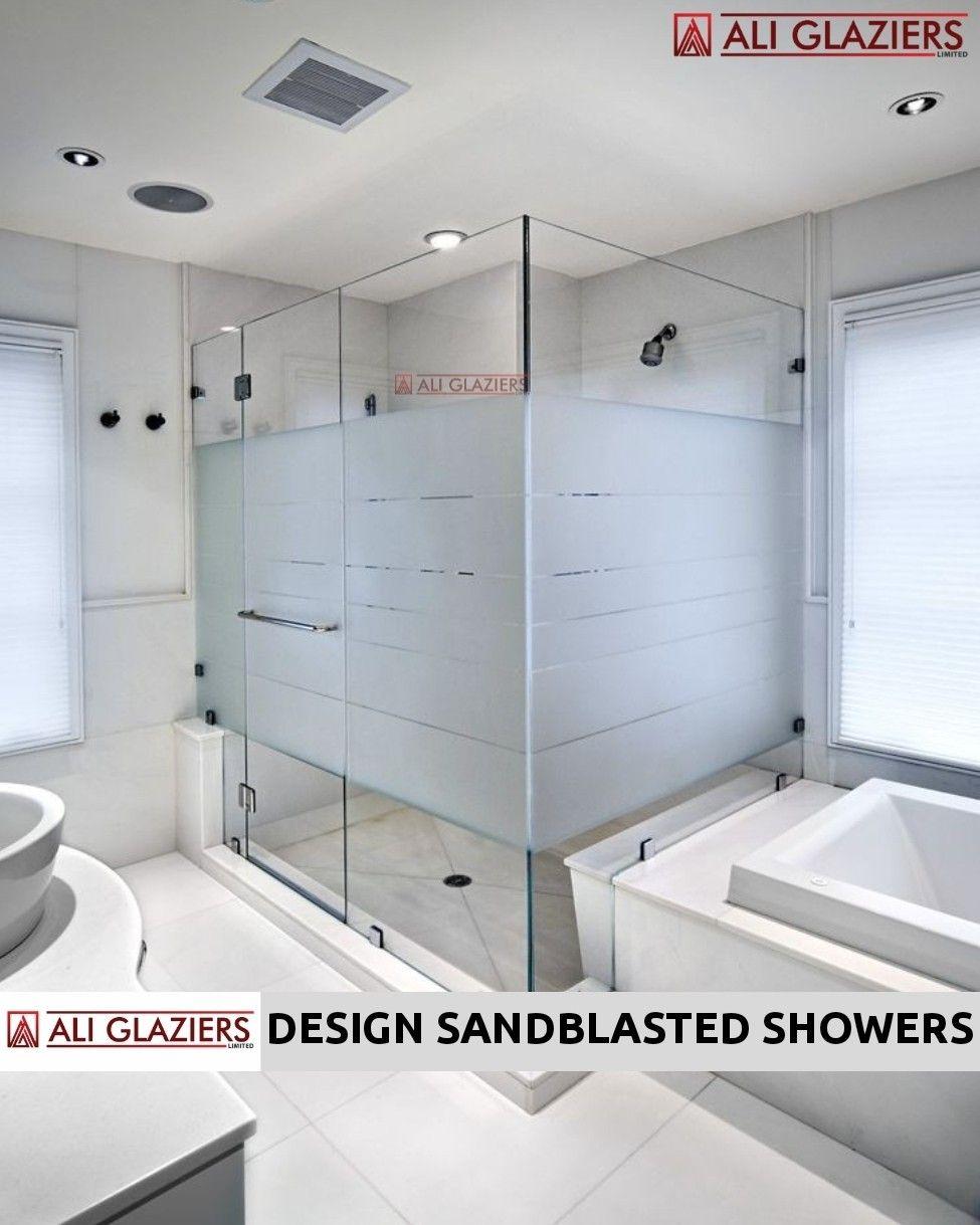 Design Sandblasted Shower Cubicles In Nairobi In 2020 Shower Doors Glass Shower Shower Cubicles