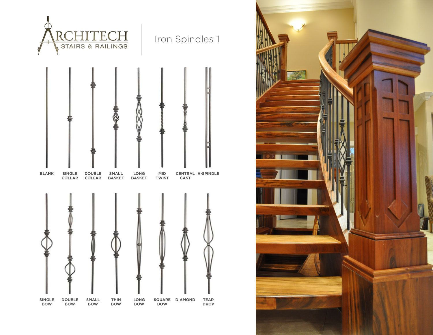 Stair, : Cool Image Of Home Interior Stair Decoration Using Floating Wooden  Staircase Step Including · Staircase SpindlesWood HandrailWrought Iron ...