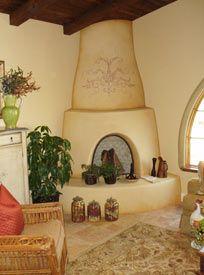 Adobe Kiva Fireplace Southwestern Decorating Old Fireplace Adobe House
