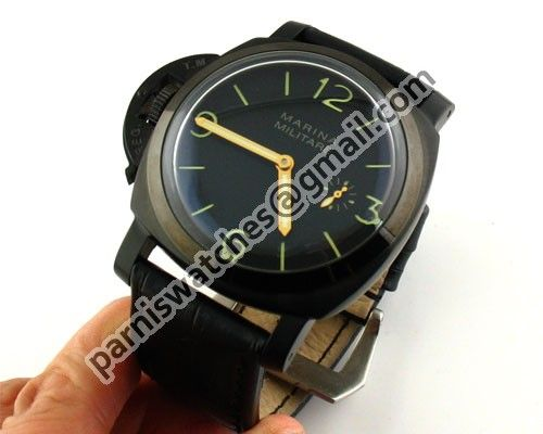 parnis style watch lefty militare index hand watches winding right