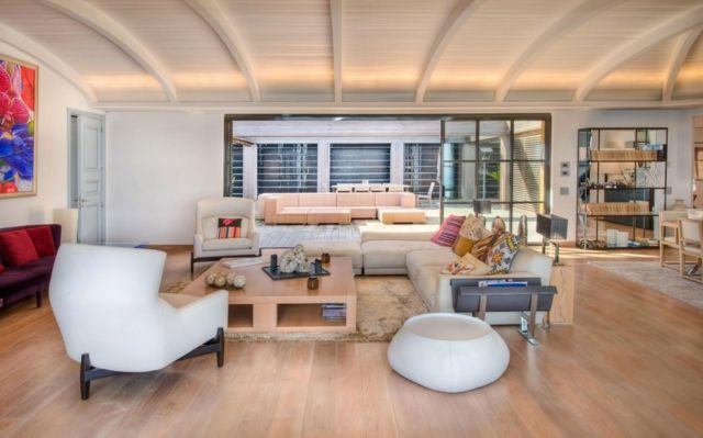 Wohnideen Holz Paletten Möbel Sofa Sessel Laminatboden Wohnideen - wohnideen wohnzimmer holz