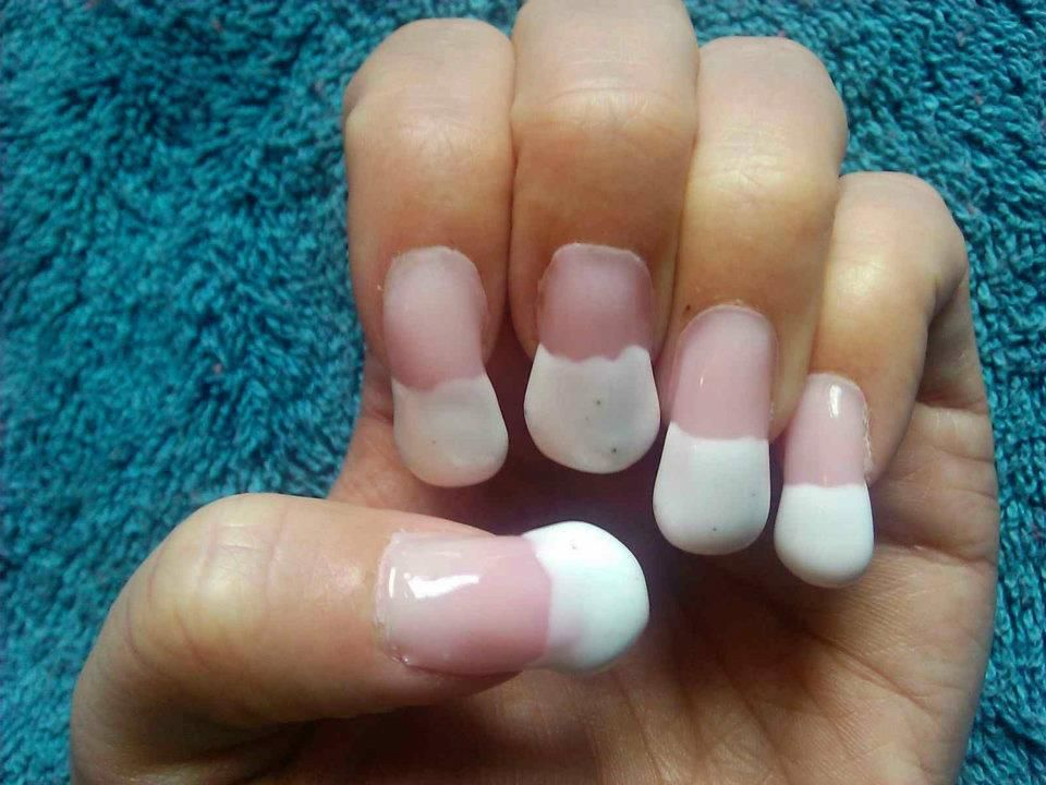 Oval acrylic nail #classic #nude #rhinestones | You\'re doing it ...