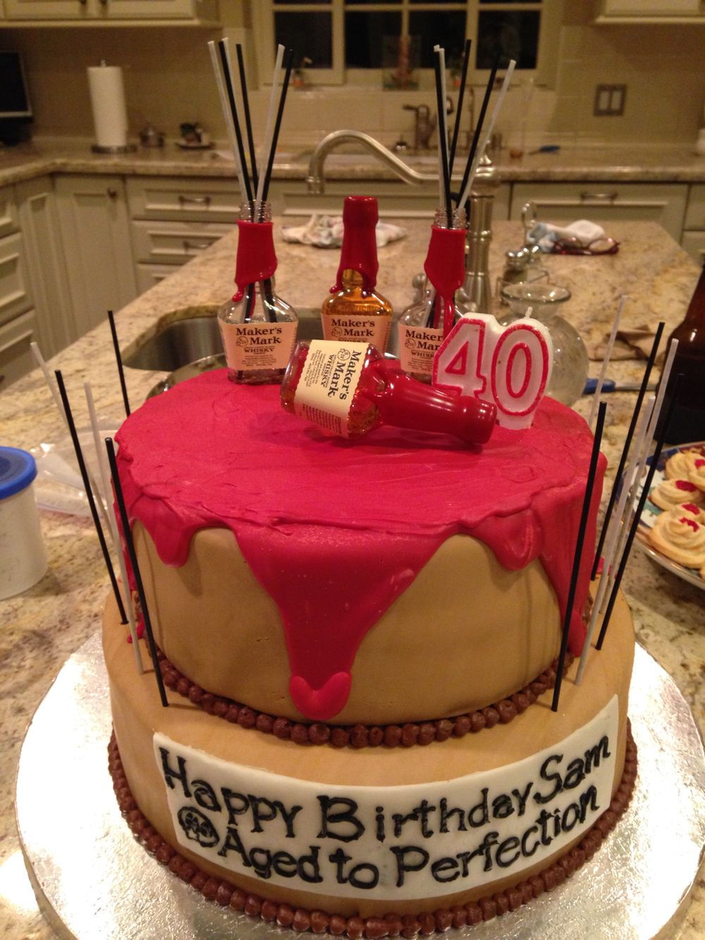 Makers Mark birthday cake | Busy Bee Cakes | Cake, Makers mark ...