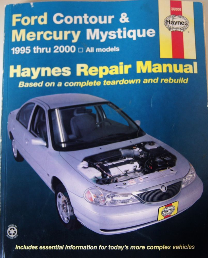 1995-2000 Ford Contour & Mystique Haynes Repair Service Workshop Manual 3998